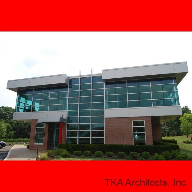 Front Elevation Of Office Building : Tka architects inc ganassi office building